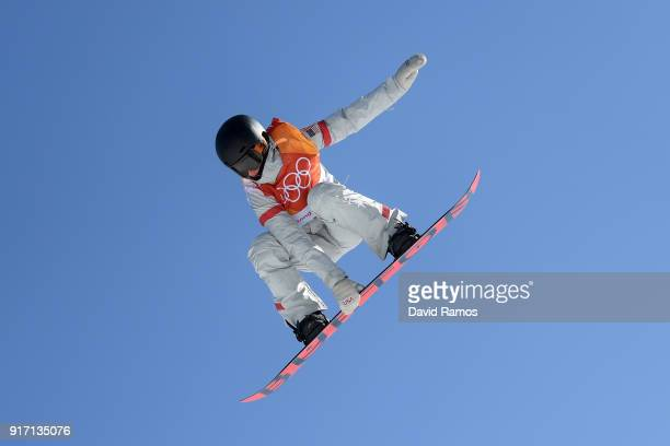 Julia Marino of the United States competes in the Snowboard Ladies' Slopestyle Final on day three of the PyeongChang 2018 Winter Olympic Games at...