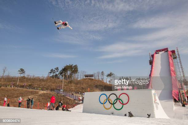 Julia Marino USA competes at the ladies big air qualification during the Pyeongchang Winter Olympics 2018 on February 19th 2018 at the Alpensia Ski...