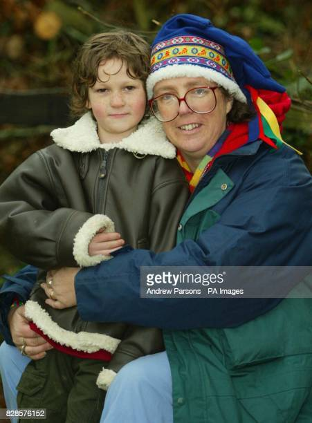 Julia McCarthyFox and her son Zachary six of Horsham West Sussex who presented Queen Elizabeth II with flowers after the monarch attended a church...