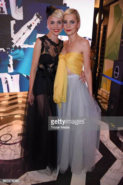 Julia Meise and her sister Nina Meise attend the Fashion2Show show during the Berlin Fashion Week Spring/Summer 2019 at Quartier 206 on July 5 2018...