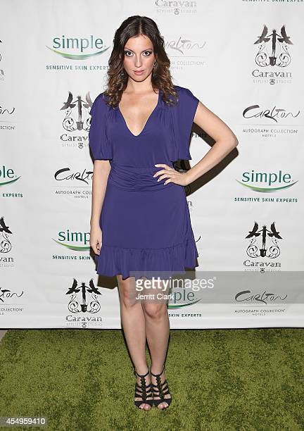 Julia Melim attends the Simple Skincare Caravan Stylist Studio Fashion Week Event on September 7 2014 in New York City