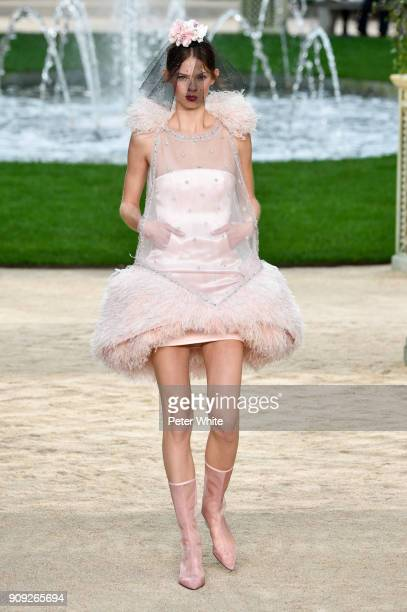 Julia Merkelbach walks the runway during the Chanel Spring Summer 2018 show as part of Paris Fashion Week on January 23 2018 in Paris France