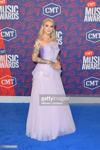 Julia Michaels attends the 2019 CMT Music Awards at Bridgestone Arena on June 05 2019 in Nashville Tennessee