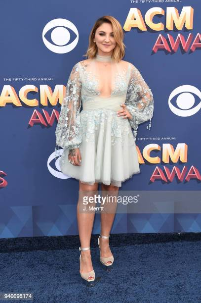 Julia Michaels attends the 53rd Academy of Country Music Awards at the MGM Grand Garden Arena on April 15 2018 in Las Vegas Nevada