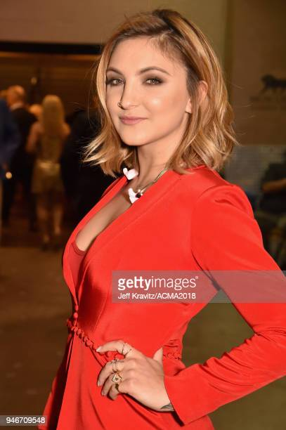 Julia Michaels attends the 53rd Academy of Country Music Awards at MGM Grand Garden Arena on April 15 2018 in Las Vegas Nevada