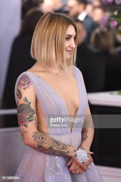 Julia Michaels attends the 60th Annual GRAMMY Awards - Arrivals at Madison Square Garden on January 28, 2018 in New York City.