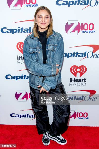 Julia Michaels attends Z100's iHeartRadio Jingle Ball 2017 at Madison Square Garden on December 8 2017 in New York City