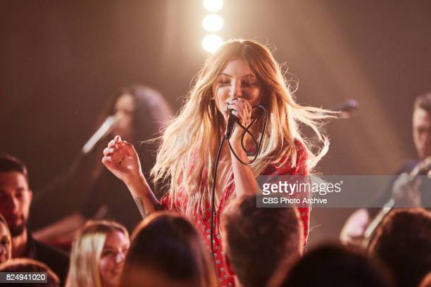 Julia Michaels performs during 'The Late Late Show with James Corden' Thursday July 27 2017 On The CBS Television Network