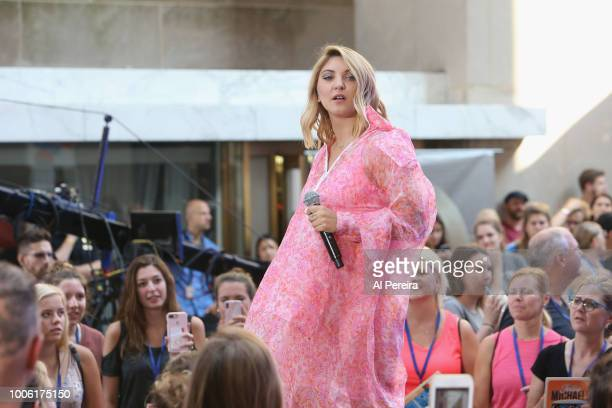 Julia Michaels performs on NBC's 'Today Show' at Rockefeller Plaza on July 27 2018 in New York City