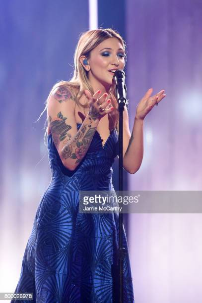 Julia Michaels performs onstage at the Logo's 2017 Trailblazer Honors event at Cathedral of St John the Divine on June 22 2017 in New York City