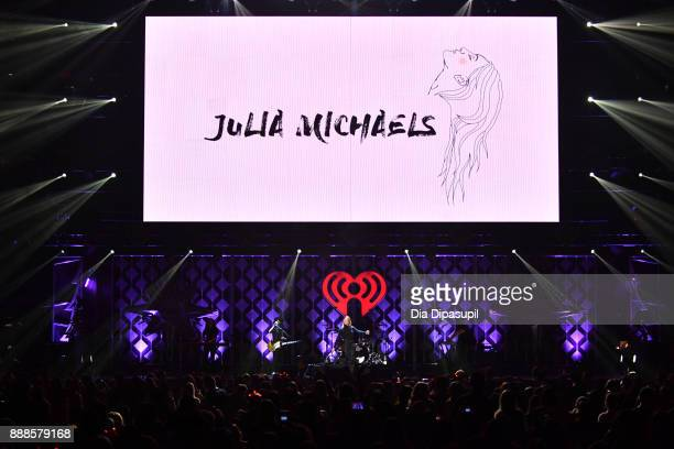 Julia Michaels performs onstage at the Z100's Jingle Ball 2017 on December 8 2017 in New York City