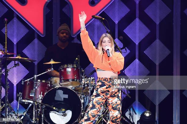 Julia Michaels performs onstage during Power 961's Jingle Ball 2017 Presented by Capital One at Philips Arena on December 15 2017 in Atlanta Georgia