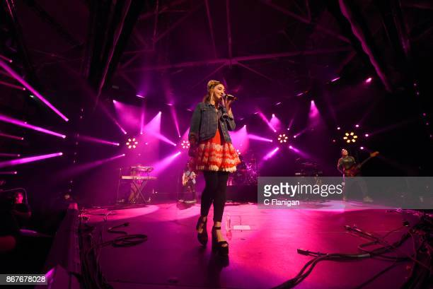 Julia Michaels performs onstage during Vevo Halloween 2017 at Craneway Pavilion on October 28 2017 in Richmond California