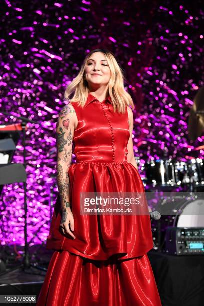 Julia Michaels performs onstage the 2018 Angel Ball hosted by Gabrielle's Angel Foundation at Cipriani Wall Street on October 22 2018 in New York City