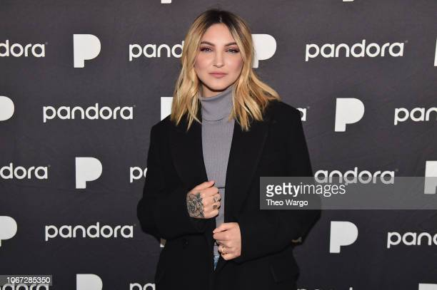 Julia Michaels poses backstage at Pandora Presents Beyond 2018 on November 13 2018 in New York City