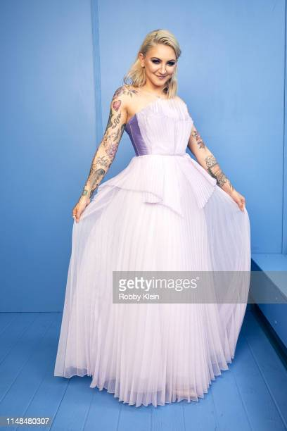 Julia Michaels poses for a portrait during the 2019 CMT Music Awards at Bridgestone Arena on June 5 2019 in Nashville Tennessee