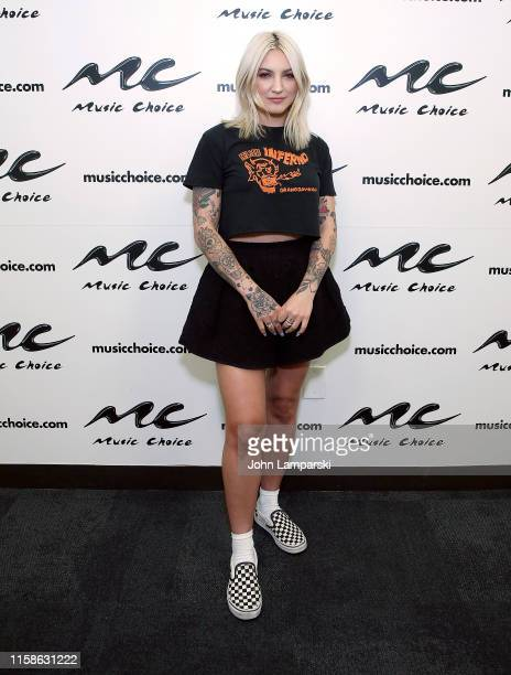 Julia Michaels visits Music Choice on June 27 2019 in New York City