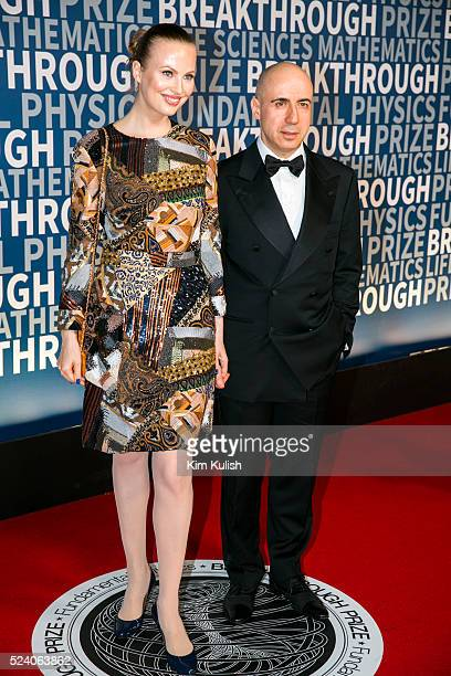 Julia Milner and entrepreneur Yuri Milner arrive at the third annual Breakthrough Prize Ceremony at the NASA Ames Research Center in Mountain View...