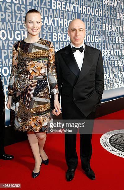 Julia Milner and entrepreneur Yuri Milner attend the 2016 Breakthrough Prize Ceremony on November 8 2015 in Mountain View California