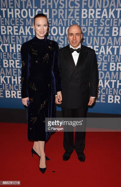 Julia Milner and entrepreneur Yuri Milner attend the 2018 Breakthrough Prize at NASA Ames Research Center on December 3 2017 in Mountain View...