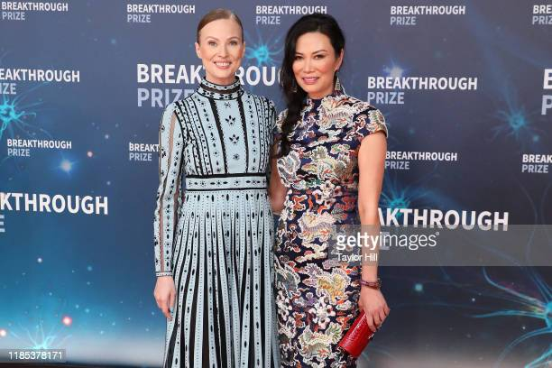 Julia Milner and Wendi Deng attend the 2020 Breakthrough Prize Ceremony at NASA Ames Research Center on November 03 2019 in Mountain View California