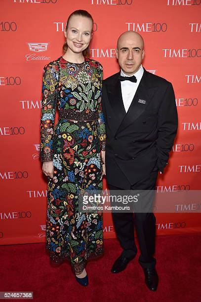 Julia Milner and Yuri Milner attend 2016 Time 100 Gala Time's Most Influential People In The World red carpet at Jazz At Lincoln Center at the Times...