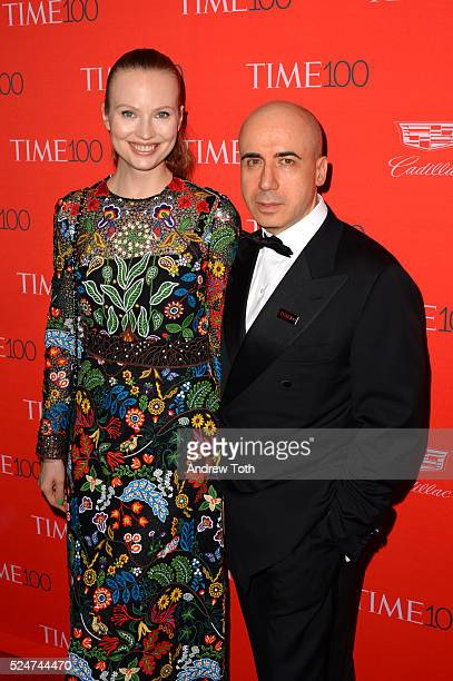 Julia Milner and Yuri Milner attend the 2016 Time 100 Gala at Frederick P Rose Hall Jazz at Lincoln Center on April 26 2016 in New York City