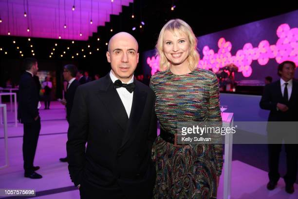 Julia Milner and Yuri Milner attend the 2019 Breakthrough Prize at NASA Ames Research Center on November 4 2018 in Mountain View California