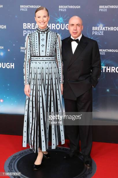 Julia Milner and Yuri Milner attend the 2020 Breakthrough Prize Ceremony at NASA Ames Research Center on November 03 2019 in Mountain View California