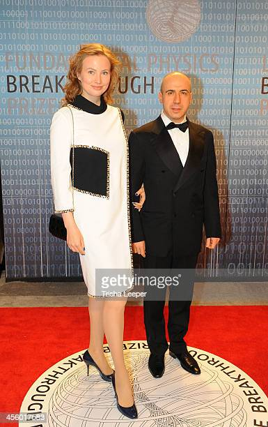 Julia Milner and Yuri Milner attends the Breakthrough Prize Inaugural Ceremony at NASA Ames Research Center on December 12 2013 in Mountain View...