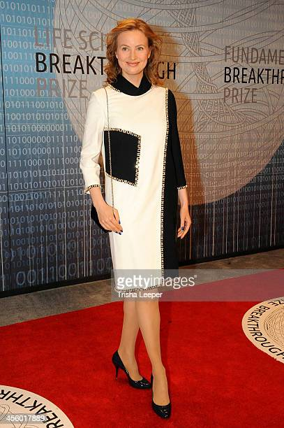 Julia Milner attends the Breakthrough Prize Inaugural Ceremony at NASA Ames Research Center on December 12 2013 in Mountain View California