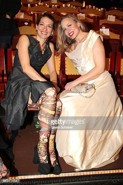 Julia Moretti and Nina Proll attend the Bavarian Film Award 2014 at Prinzregententheater on January 17, 2014 in Munich, Germany.