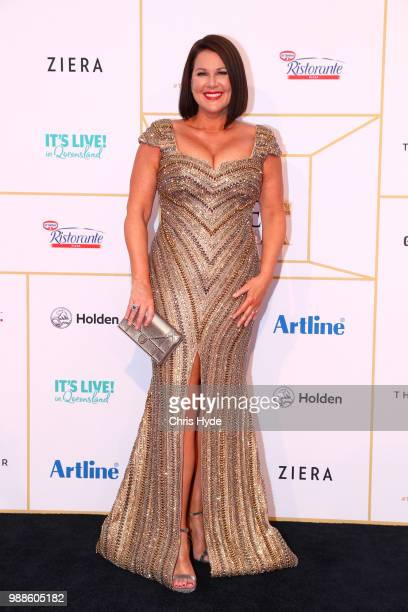 Julia Morris arrives at the 60th Annual Logie Awards at The Star Gold Coast on July 1 2018 in Gold Coast Australia