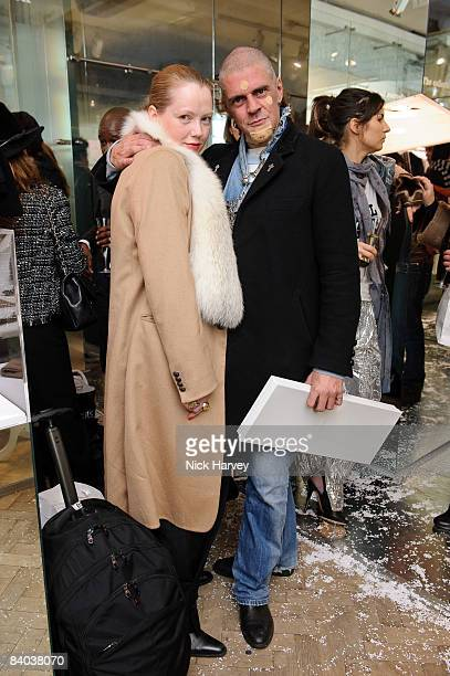 Julia Muggenburg and Judy Blame attend the launch of the Maison Martin Margiela Store on December 11 2008 in London England