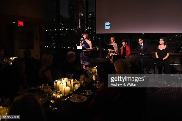 Julia Murney Heather Raffo Christine Andreas Bridges Of Understanding Executive Director Faisal AlJuburi and Lubana Al Quintar appear onstage at...