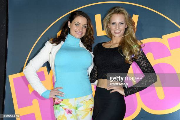Julia Neumann aka Jessica Holly Bremer and Caroline Noeding aka Julia Jule Klaasen pose during the 'Koeln 50667' Fan Party on April 1 2017 in Cologne...