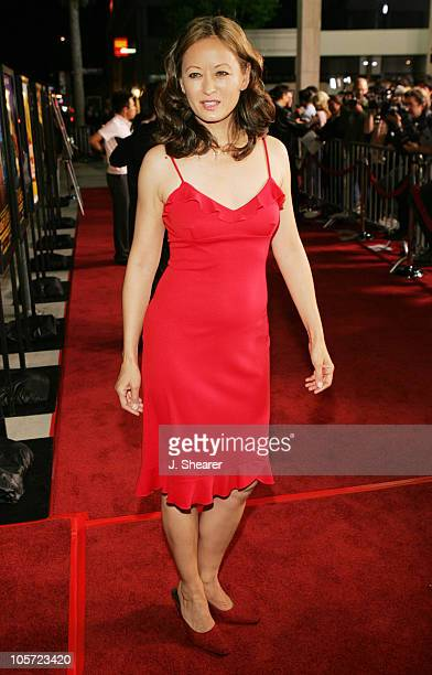Julia Nickson during Kung Fu Hustle Los Angeles Premiere Red Carpet at Cineramadome in Hollywood California United States