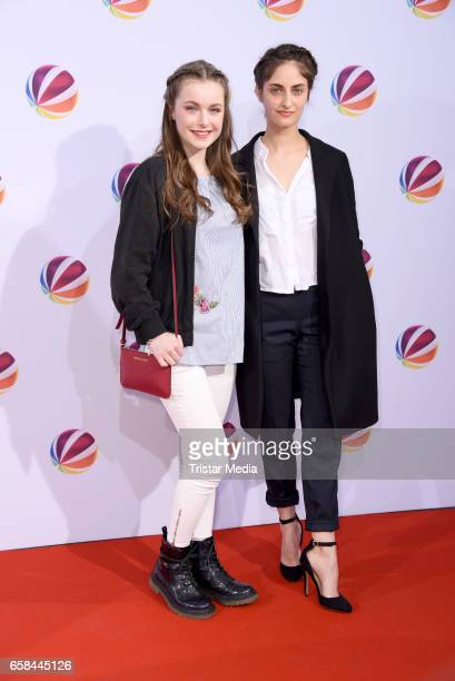 Julia Niegel and Yasmina AlZihairi attend the photo call for the television film 'Nackt Das Netz vergisst nie' at Astor Film Lounge on March 27 2017...
