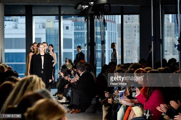 Julia Nobis and models walk the runway at the Proenza Schouler fashion show during New York Fashion Week on February 11 2019 in New York City