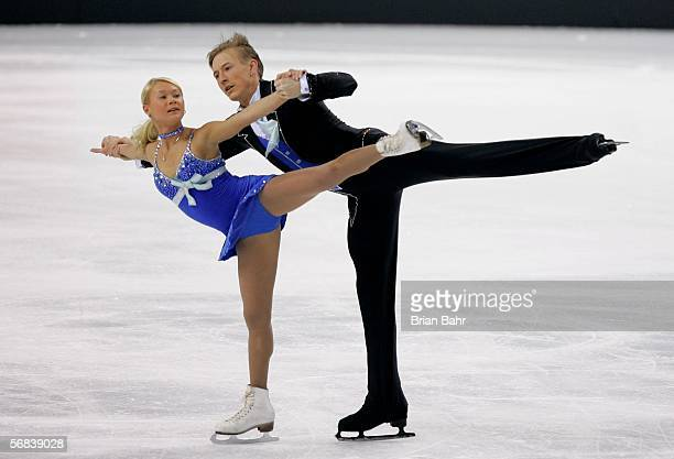 Julia Obertas and Sergei Slanova of Russia compete in the Pairs Free Skating Figure Skating during Day 3 of the Turin 2006 Winter Olympic Games on...