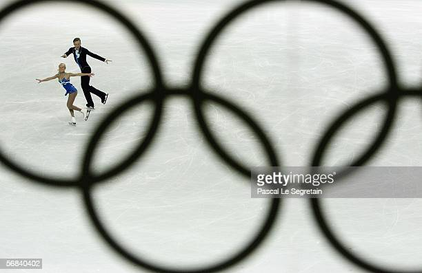 Julia Obertas and Sergei Slavnov of Russia compete in the Pairs Free Skating Figure Skating during Day 3 of the Turin 2006 Winter Olympic Games on...