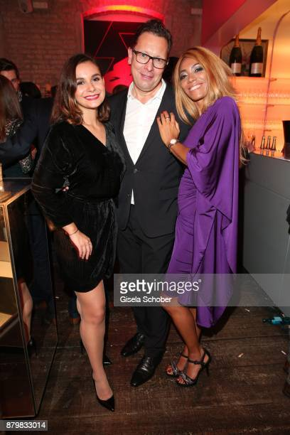 Julia Obst Robert Poelzer Editor in chief of Bunte and his wife Vivien Poelzer during the New Faces Award Style 2017 at 'The Grand' hotel on November...