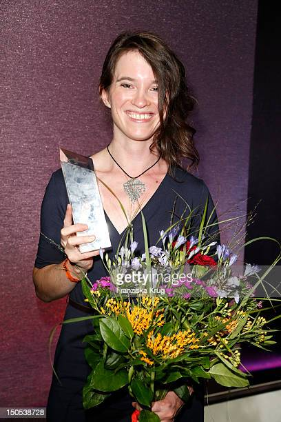Julia Ocker attends the 'First Step Awards 2012' in the Stage Theater Potsdamer Platz on August 20, 2012 in Berlin, Germany.