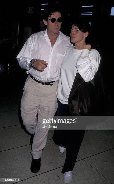 Julia Ormond and Gabriel Byrne during Julia Ormond And Gabriel Byrne Arriving At LAX From New York July 26 1996 at Los Angeles International Airport...