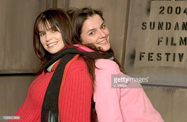 Julia Ormond and Katja von Garnier during 2004 Sundance Film Festival Iron Jawed Angels Portraits at HP Portrait Studio in Park City Utah United...