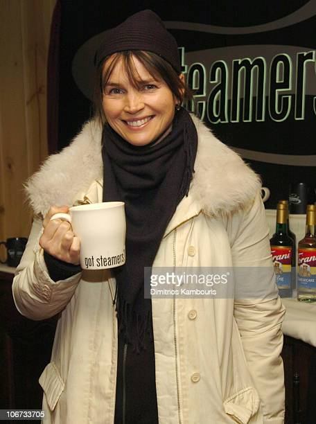 Julia Ormond at Got Steamers stand during 2004 Park City Motorola Lodge at Motorolla House in Park City Utah United States