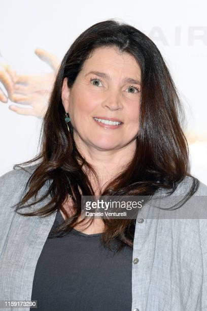 Julia Ormond attends the 65th Taormina Film Fest photocall at Teatro Antico on June 30, 2019 in Taormina, Italy.