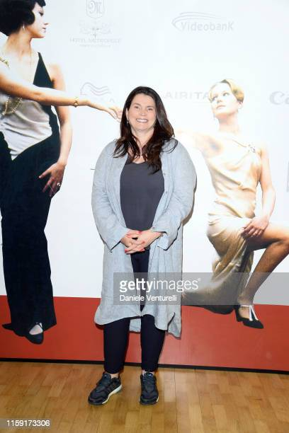 Julia Ormond attends the 65th Taormina Film Fest photocall at Teatro Antico on June 30 2019 in Taormina Italy