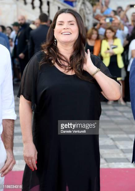 Julia Ormond attends the 65th Taormina Film Fest Red Carpet at Teatro Antico on June 30, 2019 in Taormina, Italy.
