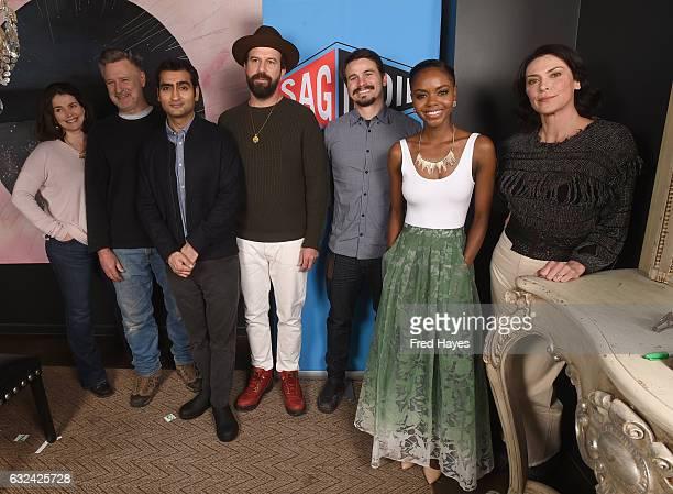 Julia Ormond Bill Pullman Kumail Nanjiani Brett Gelman Jason Ritter Ashleigh Murray and Michelle Forbes attend SAGindie Actors Only Brunch on January...